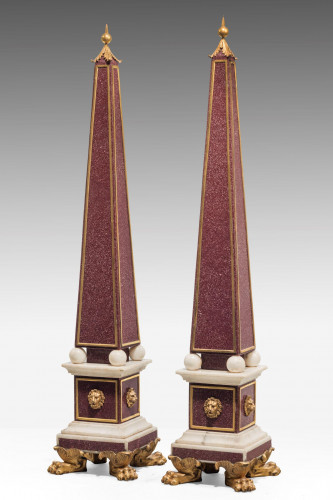 An Impressive Pair of Late 19th Century Obelisks