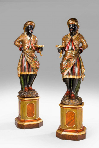 Pair of 19th Century Venetian Blackamoors