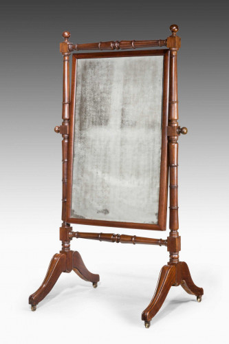 Regency Period Mahogany Cheval Mirror