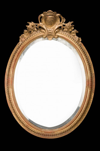 Chippendale Period Oval Mirror