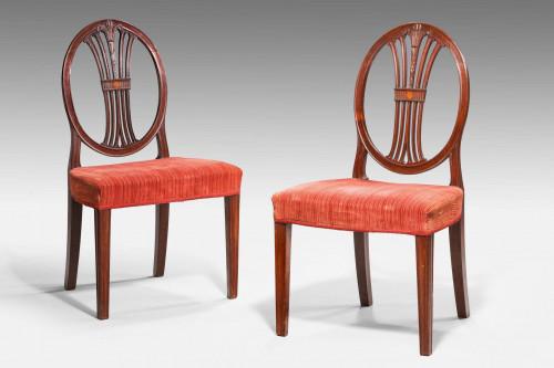 Pair of George III Hepplewhite Chairs