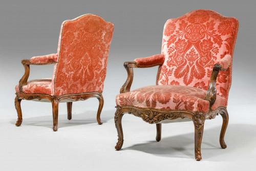 Pair of Louis XIV Design Fauteuil
