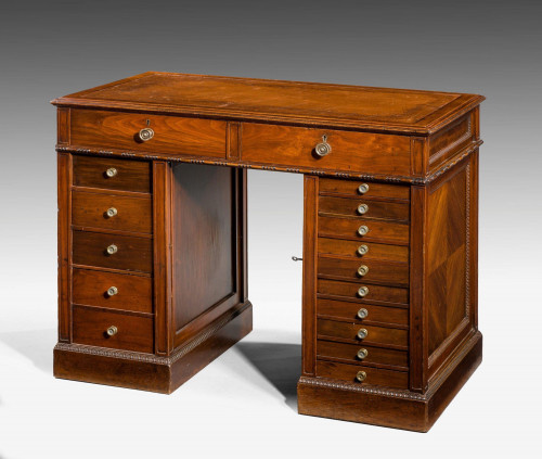 Late 19th Century Walnut Pedestal Desk.