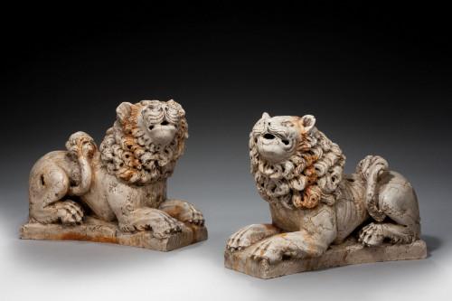 Pair of mid 20th century Italian Lions