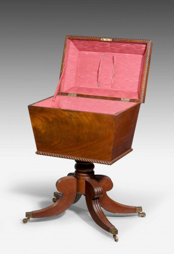 Regency Period Mahogany Sewing Box