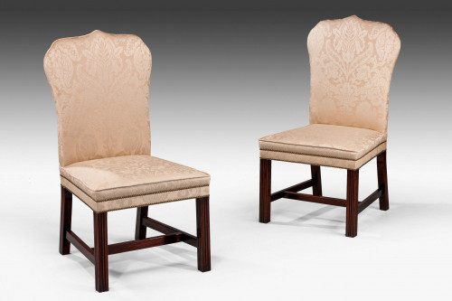 Pair of Mahogany Framed Chippendale Design Chairs.