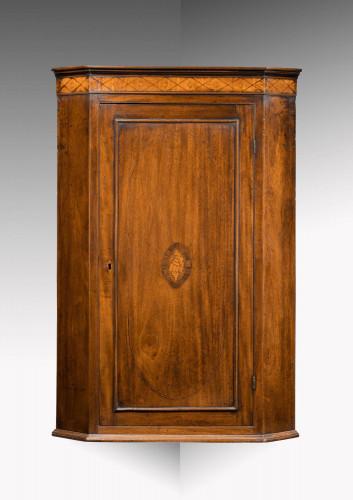 A George III Period Mahogany Corner Cupboard