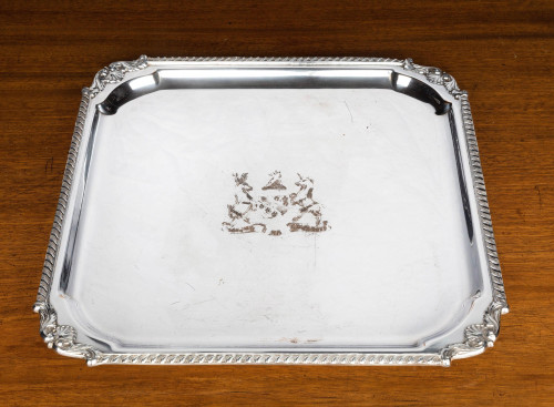 A Very Good Quality, Victorian, Sheffield Plated, Square Waiter