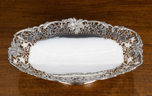 A Quite Exceptional Silver Dish on a Footed Rim.