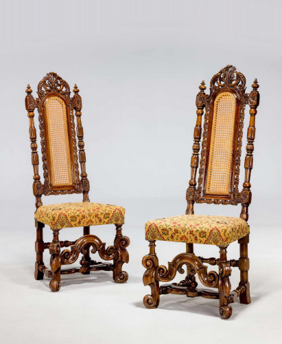 Fine Pair of James II Period Chairs