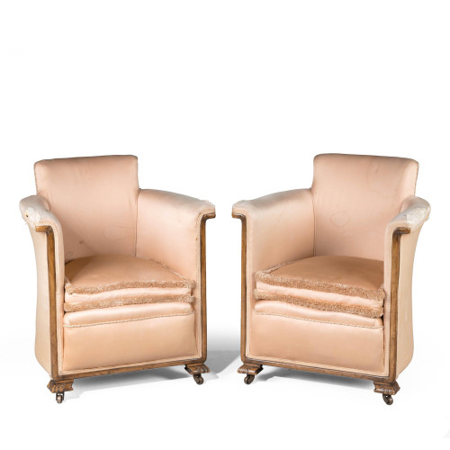 A Most Attractive Pair of Late 1920's Art Deco Chairs