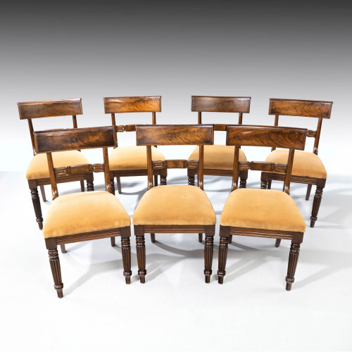A Good Set (6+1) of William IV Mahogany Framed Chairs