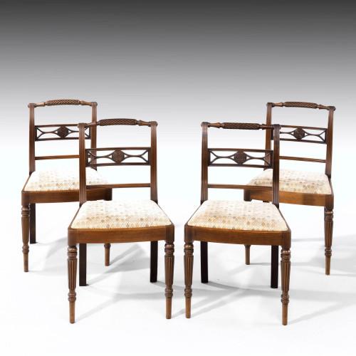 An Elegant Set of Four Whitehaven Regency Period Single Chairs