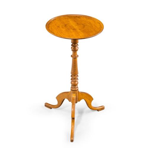 An Elegant Regency Period Satinwood Occasional Wine Table.