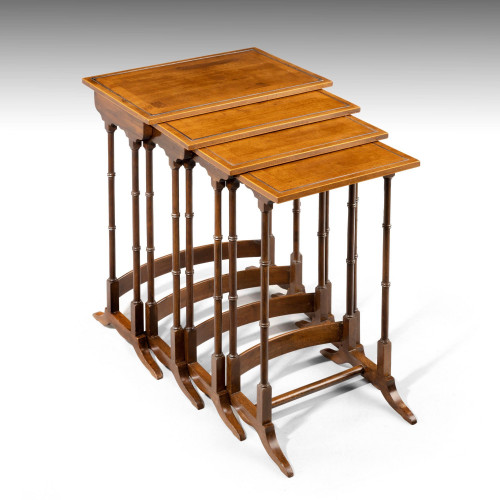 A Most Attractive Early 20th Century Quartetto of Mahogany Tables