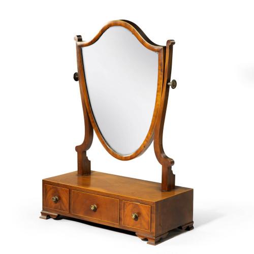 A Good George III Period Mahogany  Dressing Mirror