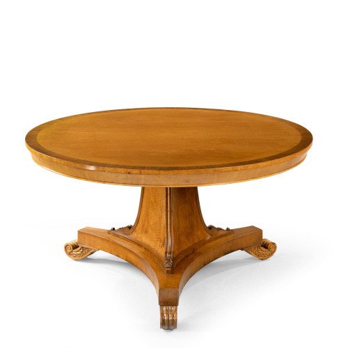 A Fine Quality Regency Period Maple and Rosewood Centre Table