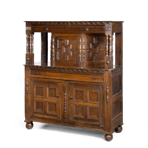 A Good Late 17th Century Oak Court Cupboard