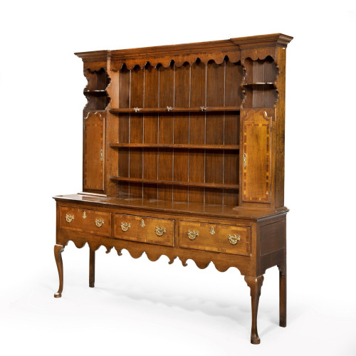 A Good Mid-18th Century Oak Dresser and Rack