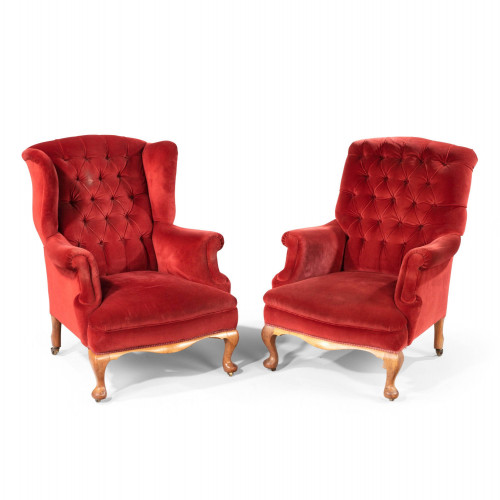 A Handsome Pair of Mid 20th Century Easy Chairs