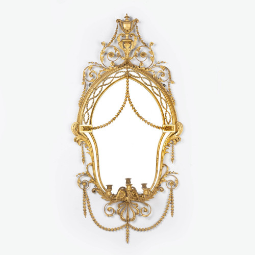 A Fine Mid 19th Century Giltwood and Gesso Mirror by Gillows of Lancaster