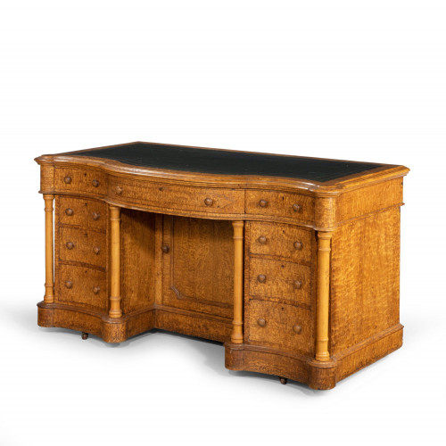 An Attractive Late 19th Century Kneehole Desk by Taylor and Sons of Bond Street