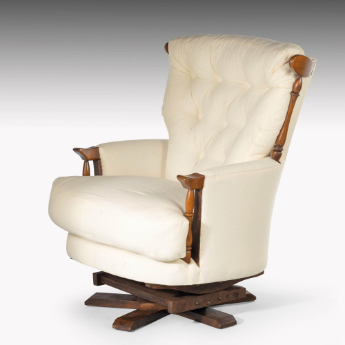 A Substantial Mid 20th Century Swivel Chair