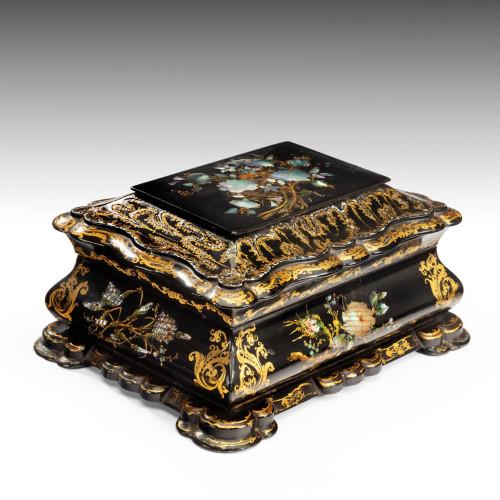 19th Century Papier-Mâché Box