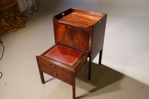 George III Period Mahogany Night Table