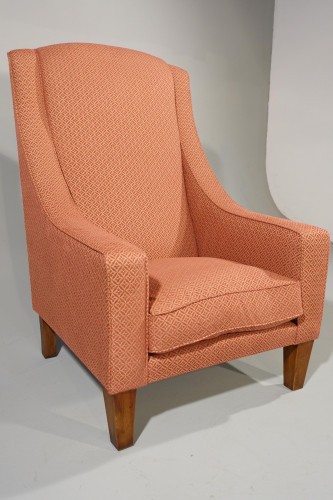A Very Substantial Late 20th Century Mahogany Framed Library Chair