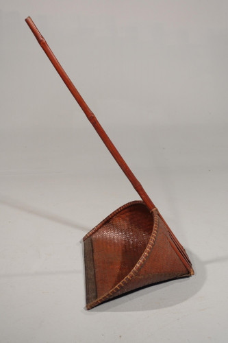 An Early 20th Century Split Cane, Woven, Tidy