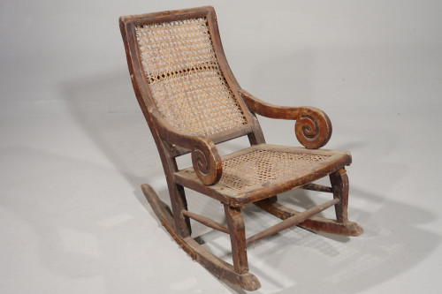 An Early 20th Century Child's Canework Rocking Chair