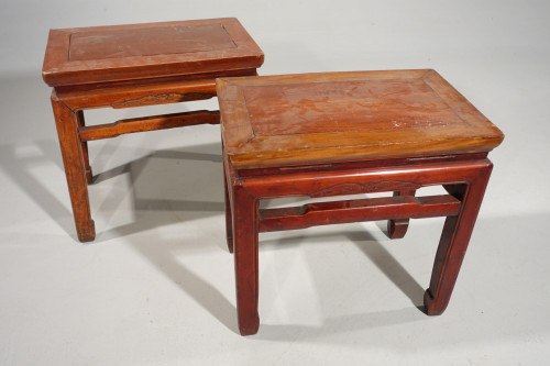 An Attractive Pair of Early 20th Century Stools or Low Tables