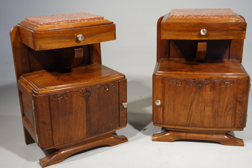 An Attractive Pair of Late 20th Century Art Deco Night Cabinets