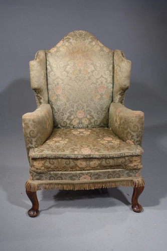 A Small Well-Shaped Mid 20th Century Wing Chair of George I Design