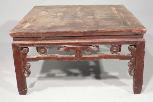 A Strongly Carved and Designed Early 20th Century Elm Coffee Table