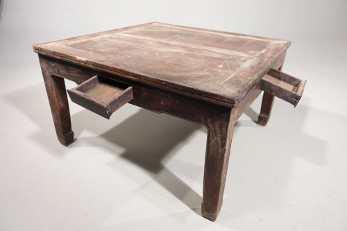 A Late 19th Century Square Section Low Table
