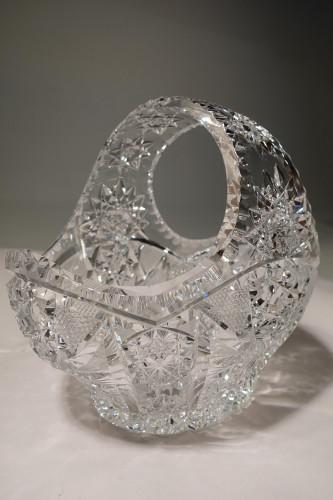 An Outstanding 1920's Cut-Glass English Basket