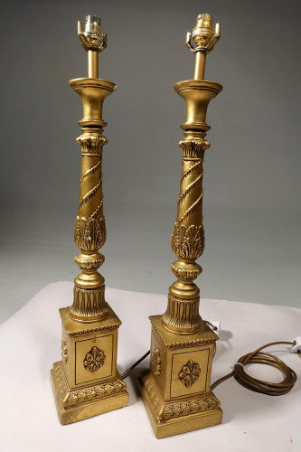 A Good Pair of Mid 20th Century Giltwood Lamps