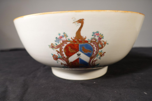 A Late 18th Century Chinese Export Armorial Bowl