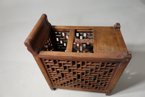 An Early 20th Century Highly Complex Elm Baby Walker