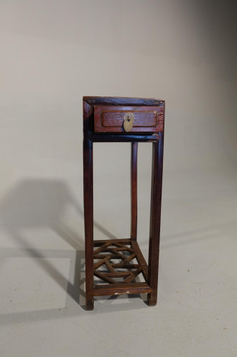 A Late 19th Century Lamp Table in Hongmu Wood