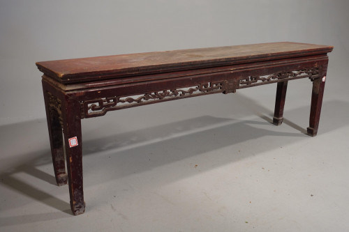 An Attractive Late 19th Century  Well Carved Elm Low Table or Stool