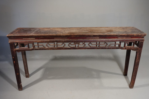 A Late 19th Century Elm Artists or Alter Table