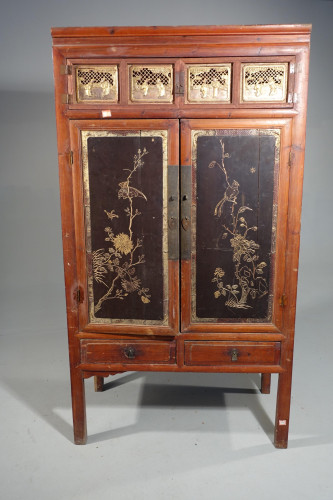 A Handsome Late 19th Century Southern Chinese Marriage Cupboard