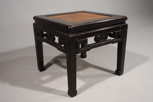 A Good Late 19th Century Elm Square Section Low Table