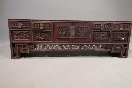 A Late 19th Century and Finely Carved Chinese Alter Table