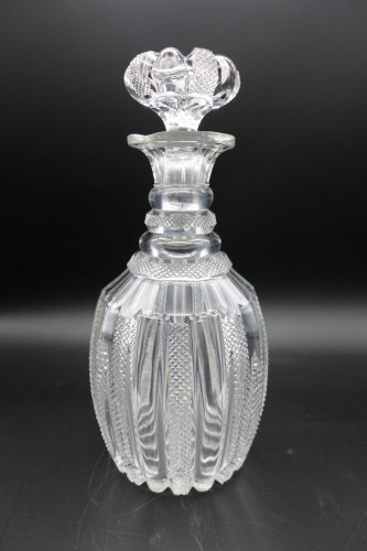 A Regency Period Finely Hobnail Cut Shaped Mallet Decanter