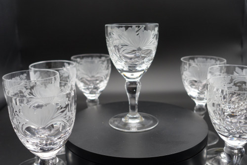 An Exceptional Set of  8 Royal Brierly Wine or Port Glasses