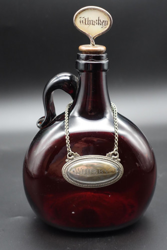 A Late 19th Century Dark Amber Whiskey Decanter